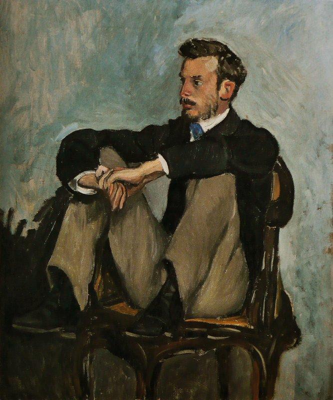 Portrait of Auguste Renoir - Frederic Bazille