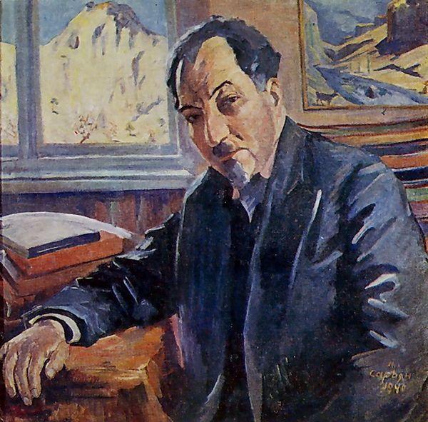 Portrait of Avetik Isahakyan - Martiros Saryan