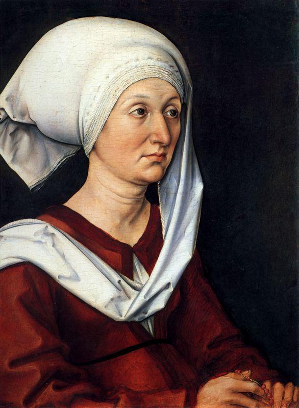 Portrait of Barbara - Albrecht Durer