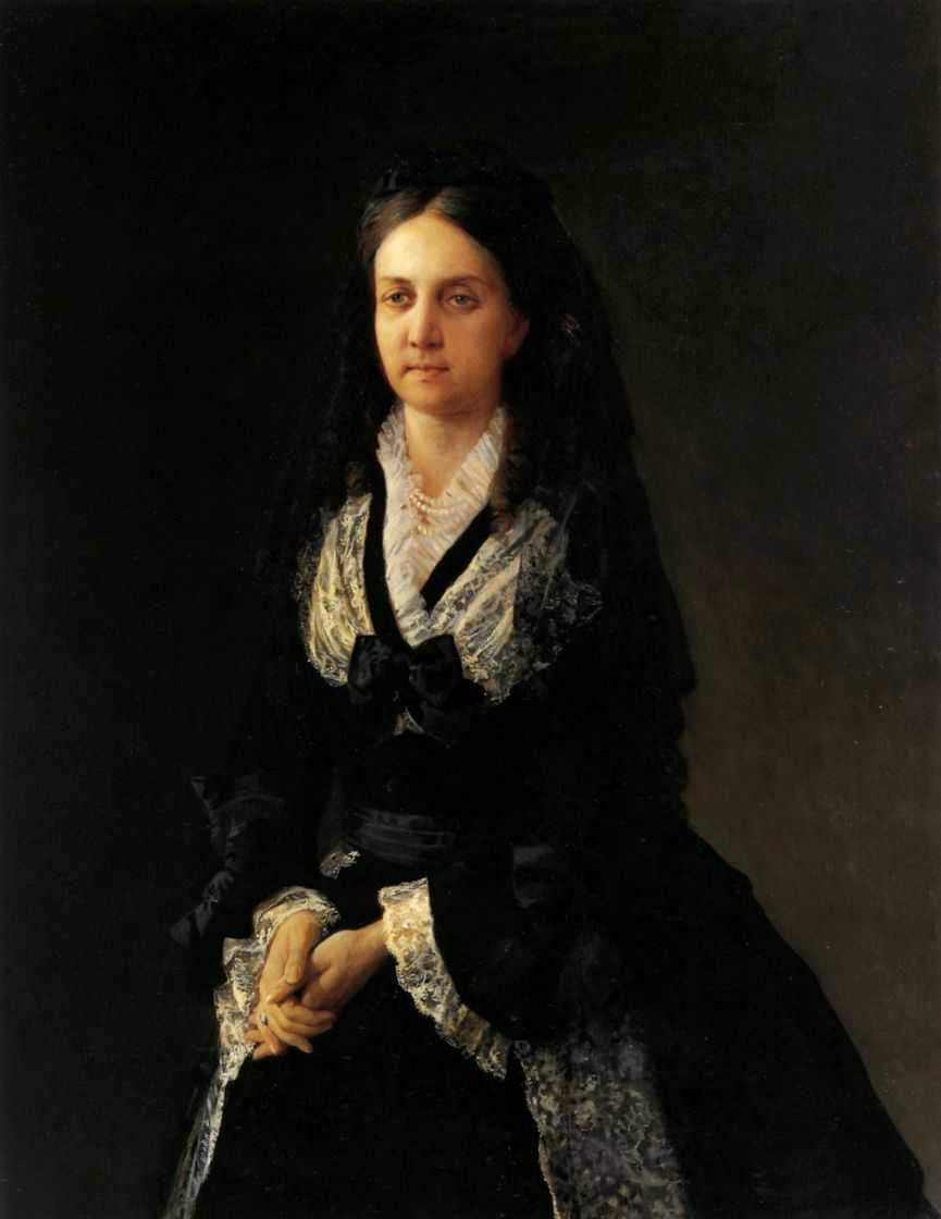 Portrait of Barbara Kochubey - Nikolai Ge