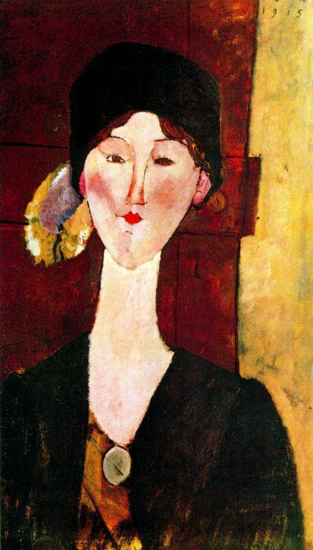 Portrait of Beatrice Hastings before a door - Amedeo Modigliani