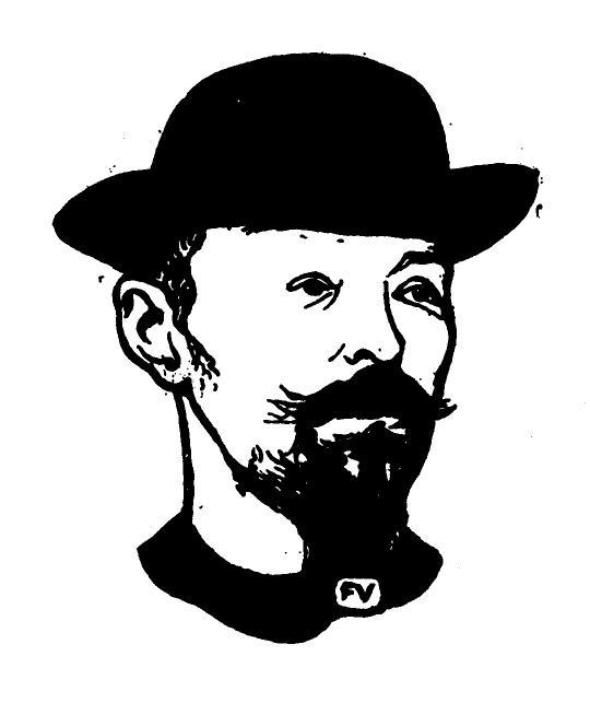 Portrait of Belgian symbolist poet Max Elskamp  - Felix Vallotton