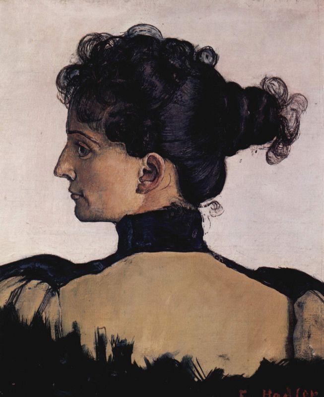 Portrait of Berthe Jacques, wife of the artist - Ferdinand Hodler