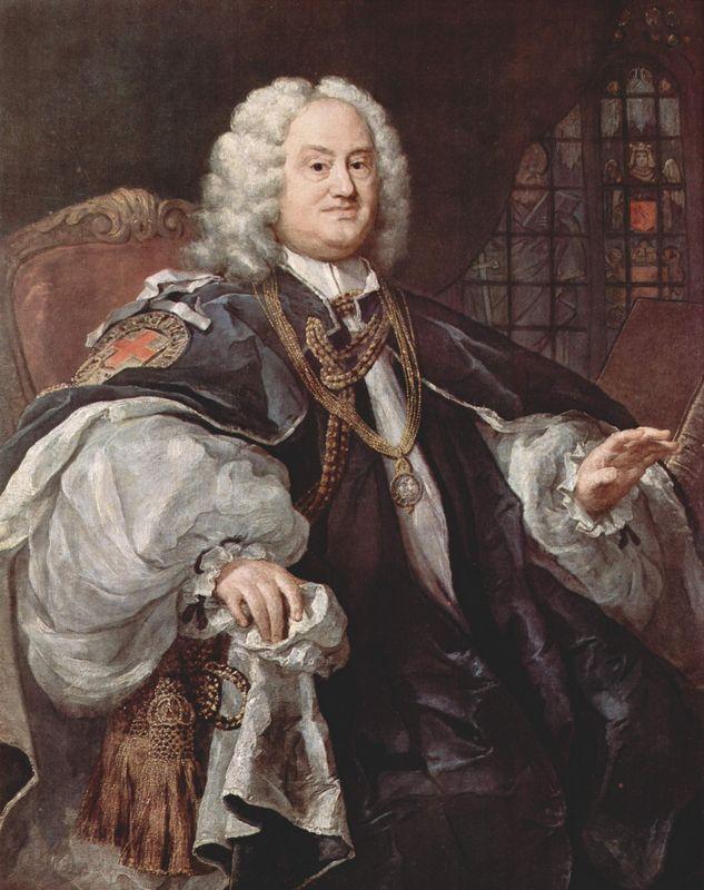 Portrait of Bischofs Benjamin Hoadly - William Hogarth