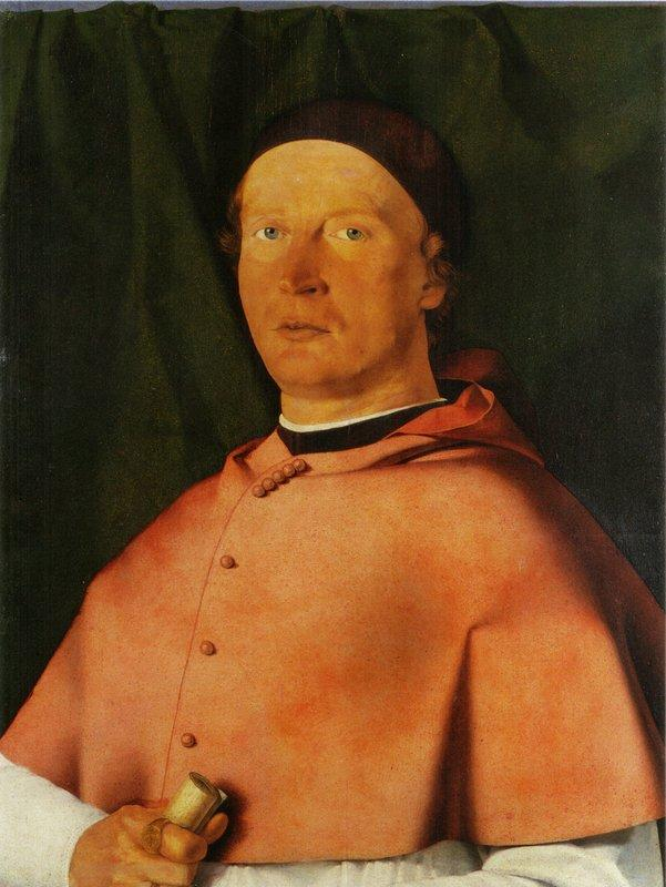 Portrait of Bishop Bernardo de' Rossi - Lorenzo Lotto