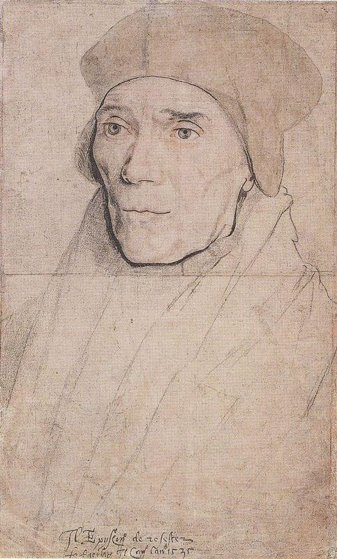 Portrait of Bishop John Fisher - Hans Holbein the Younger