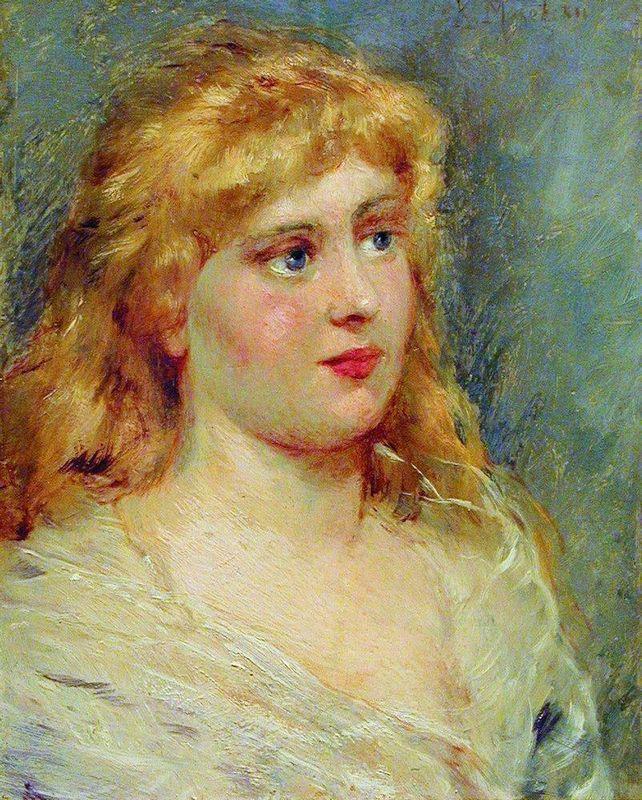 Portrait of Blonde - Konstantin Makovsky