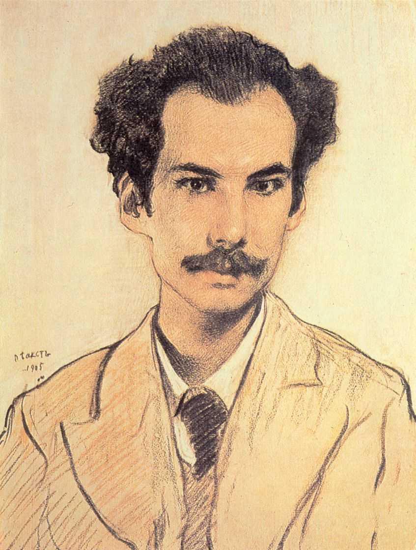 Portrait of Boris Nikolayevich Bugaev (Andrey Bely) - Leon Bakst