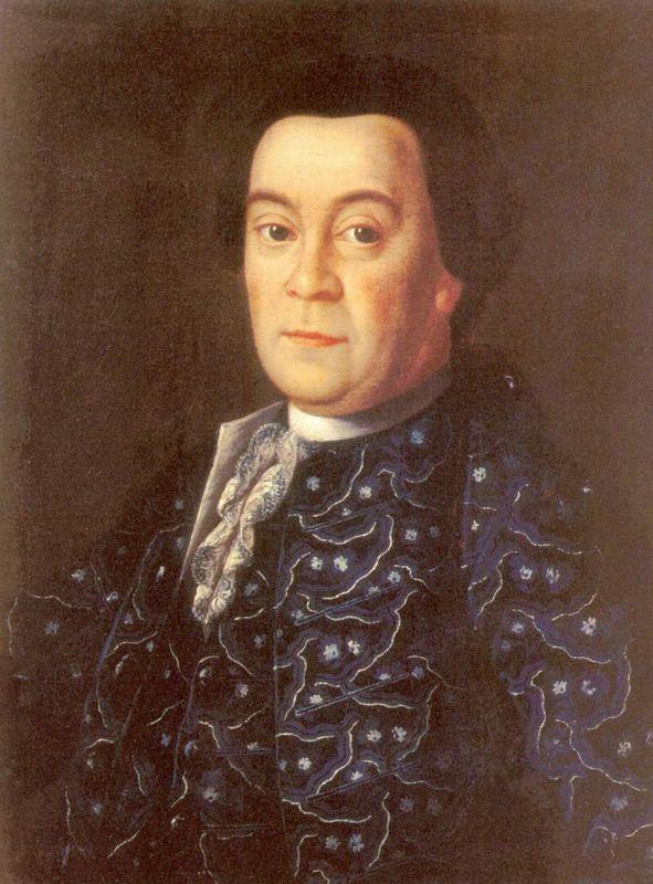 Portrait of Brigadier Michael Dmitrievich Buturlin - Aleksey Antropov