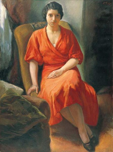Portrait of Calliope - Alekos Kontopoulos