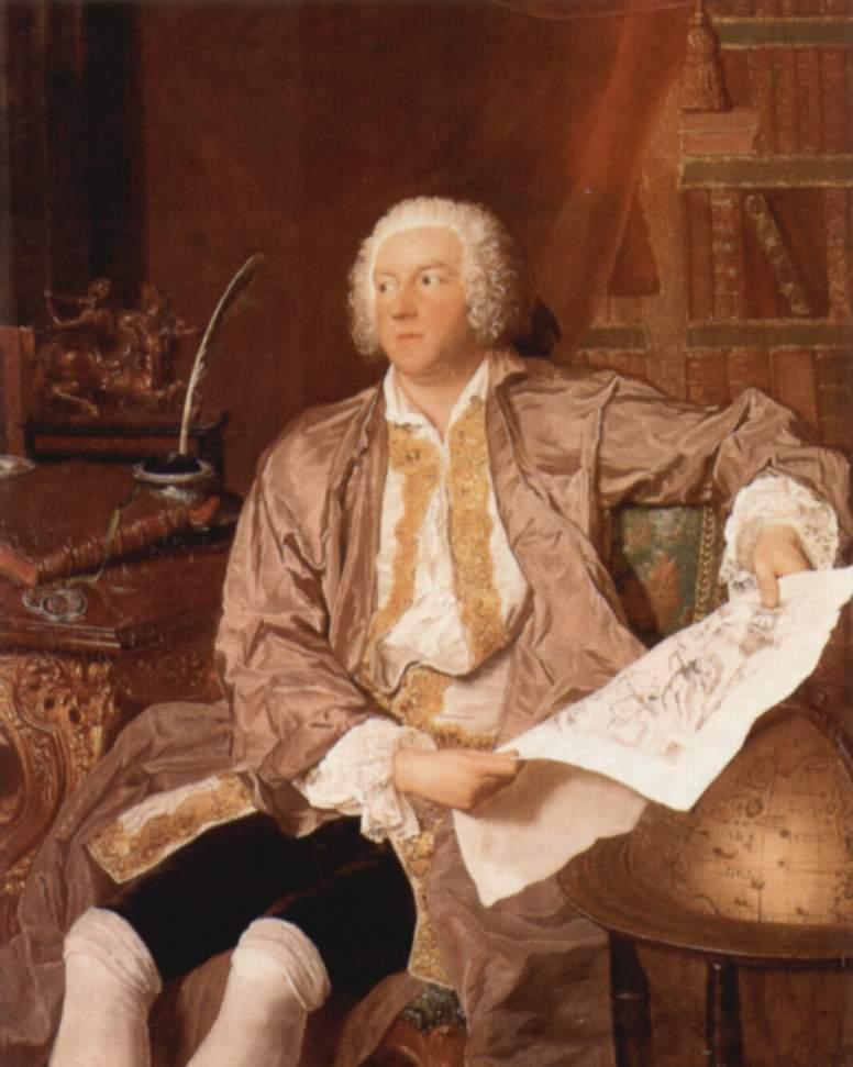 Portrait of Carl Gustaf Tessin - Francois Boucher