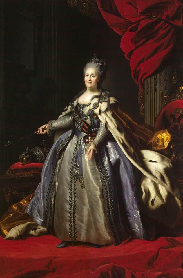 Portrait of Catherine II of Russia - Fyodor Rokotov