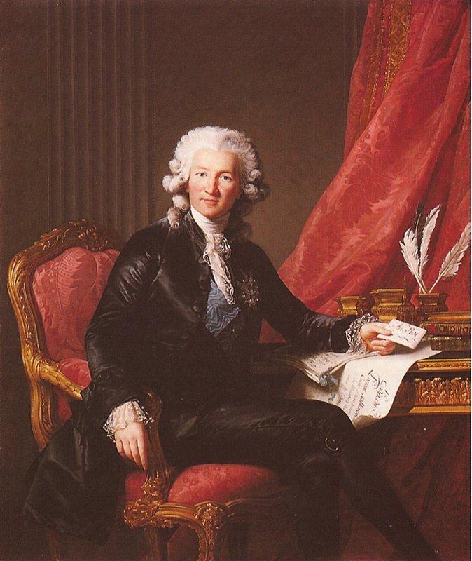 Portrait of Charles Alexandre de Calonne  - Louise Elisabeth Vigee Le Brun