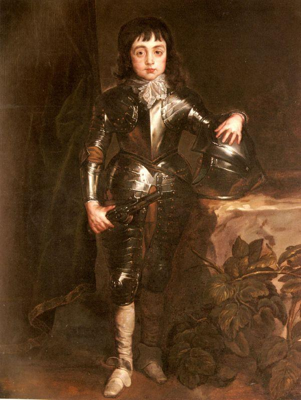 Portrait of Charles II When Prince of Wales - Anthony van Dyck
