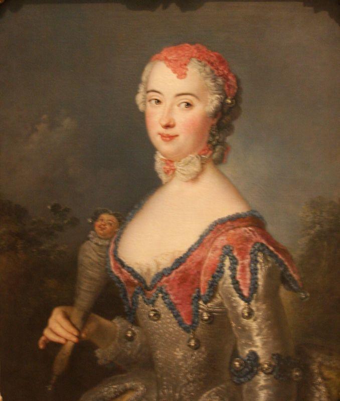Portrait of Charlota Fredrika Sparre - Antoine Pesne