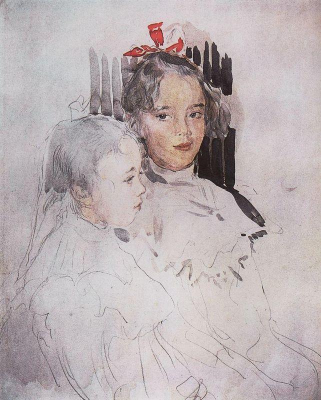 Portrait of Children of S. Botkin - Valentin Serov