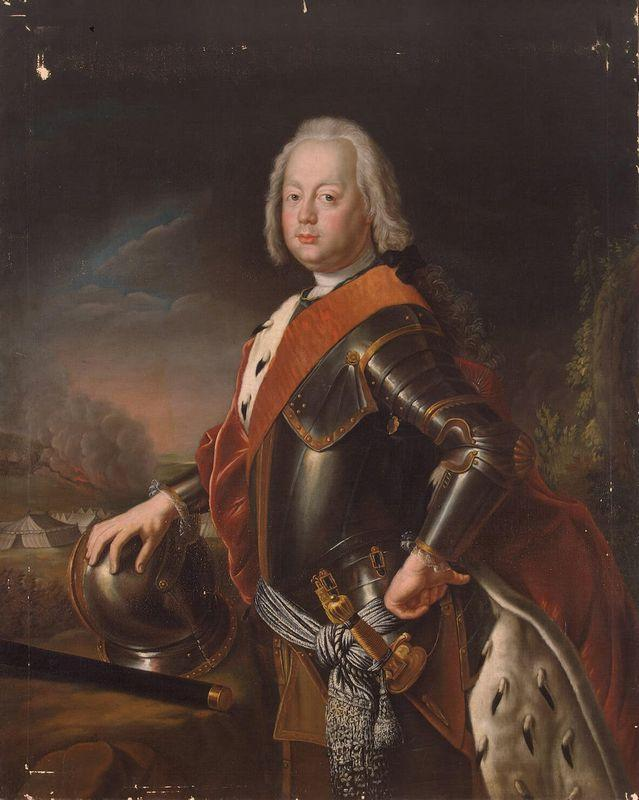 Portrait of Christian August, Prince of Anhalt Zerbst, father of Catherine II of Russia. - Antoine Pesne