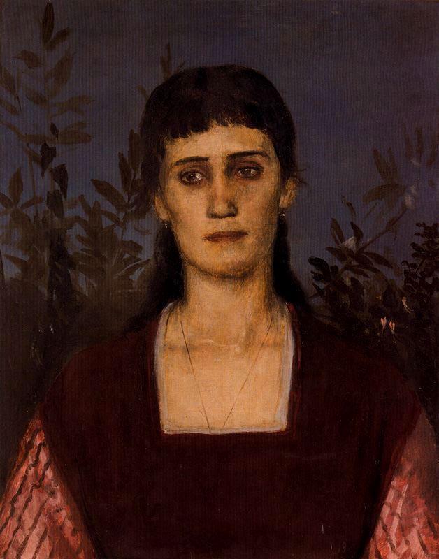 Portrait of Clara Bruckmann-Bocklin  - Arnold Bocklin