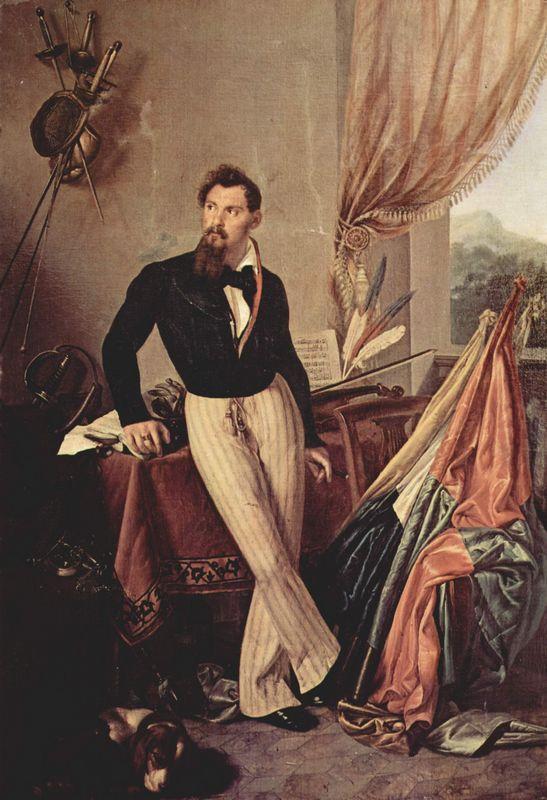 Portrait of Conte Baglioni - Francesco Hayez