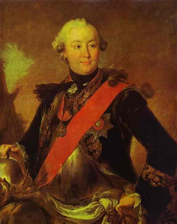 Portrait of Count G.G.Orlov - Fyodor Rokotov