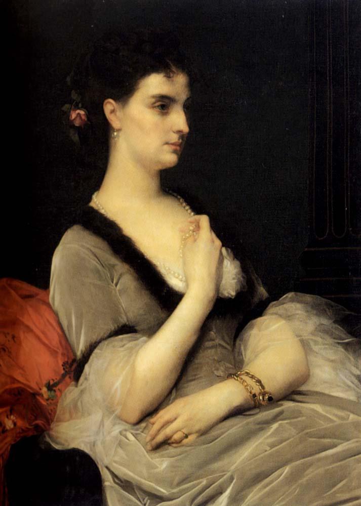 Portrait of Countess E.A. Vorontova-Dashkova - Alexandre Cabanel