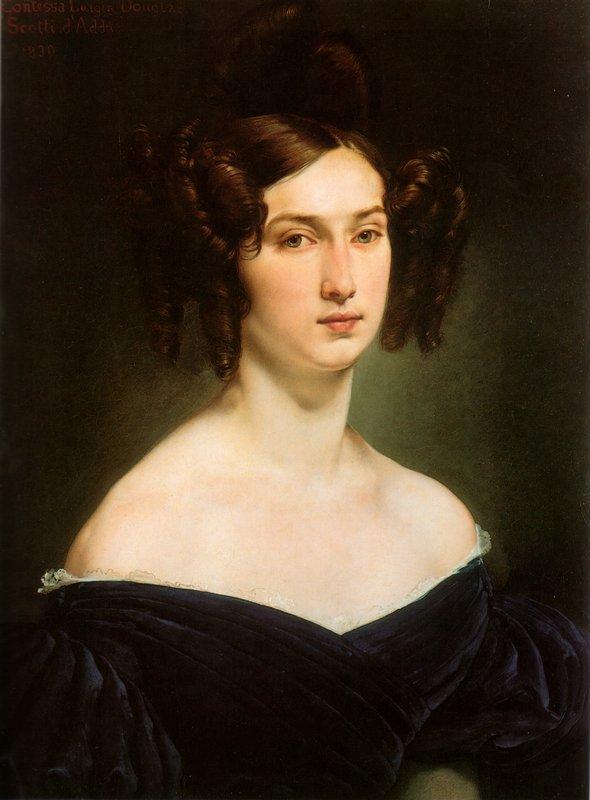 Portrait of Countess Luigia Douglas Scotti d'Adda - Francesco Hayez
