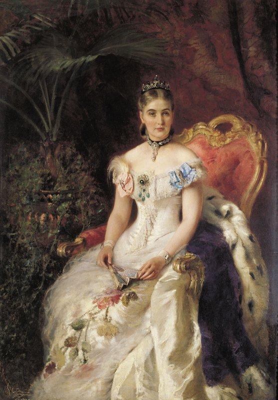 Portrait of Countess Maria Mikhailovna Volkonskaya - Konstantin Makovsky