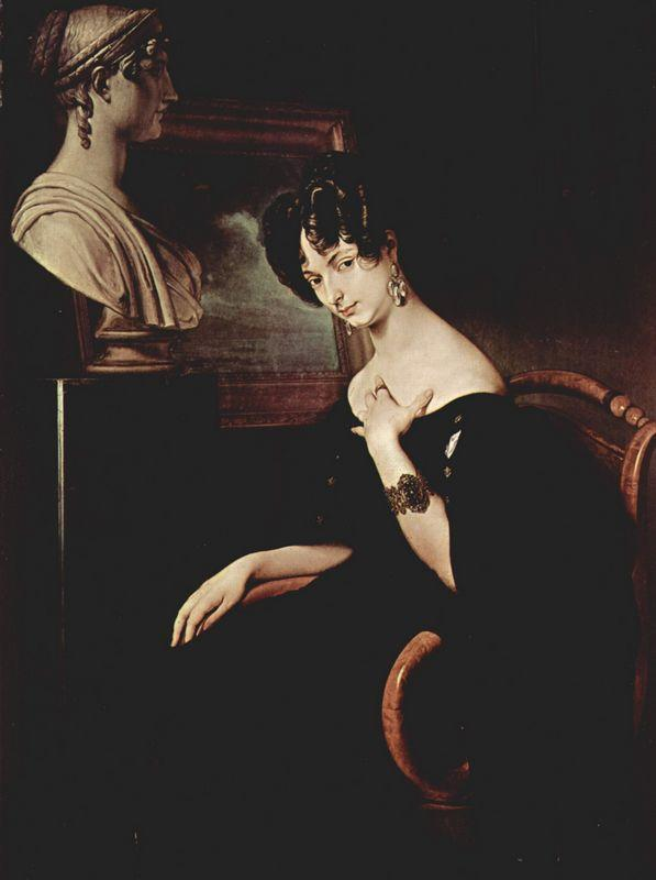 Portrait of Cristina di Belgiojoso Trivulzio - Francesco Hayez