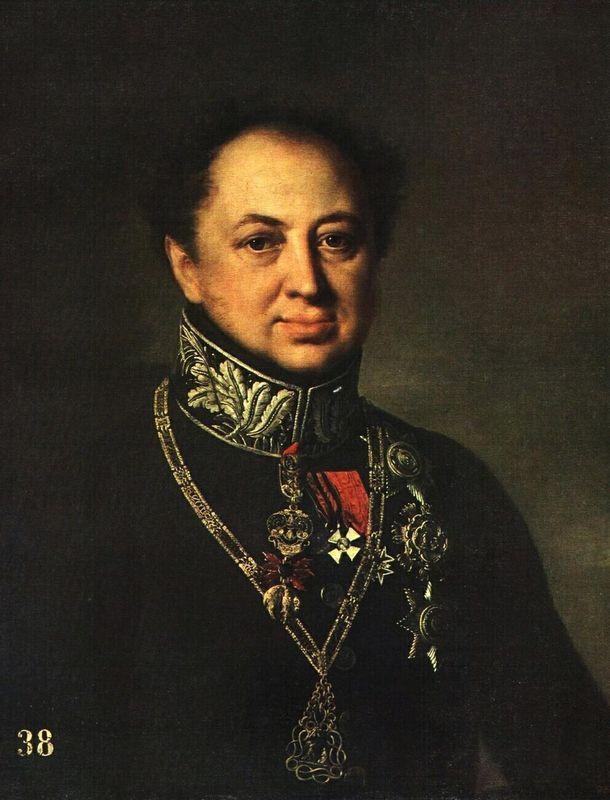 Portrait of D. P. Tatishchev - Vasily Tropinin