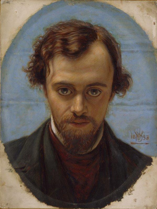 Portrait of Dante Gabriel Rossetti  - William Holman Hunt