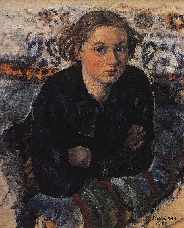 Portrait of daughter Katya - Zinaida Serebriakova