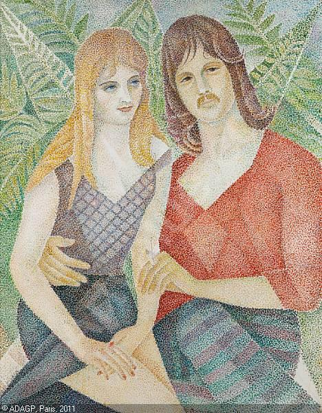 Portrait of David Hodge and girlfriend - Marevna (Marie Vorobieff)