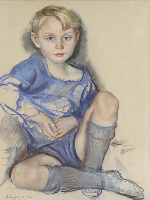 Portrait of Dick Hunter, son of Ekaterina Cavos Hunter - Zinaida Serebriakova