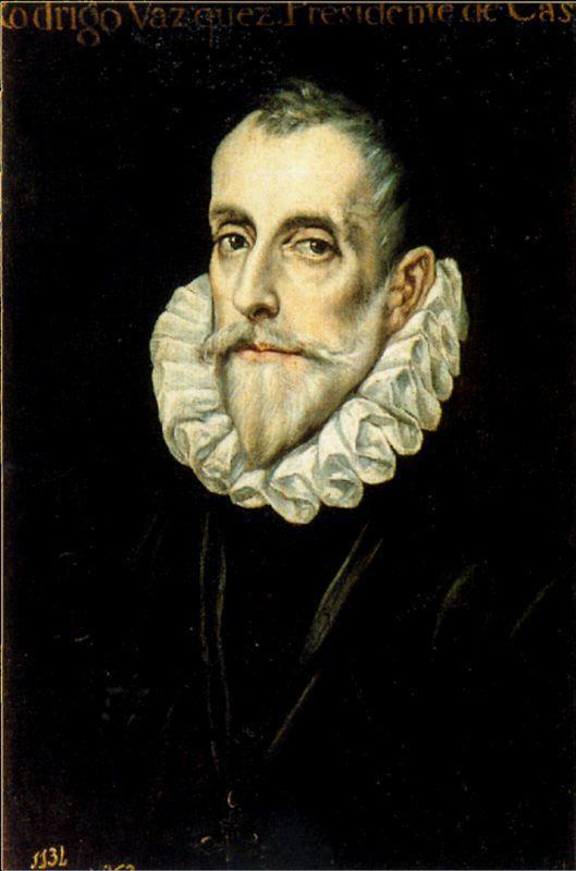 Portrait Of Don Rodrigo Vasquez - El Greco