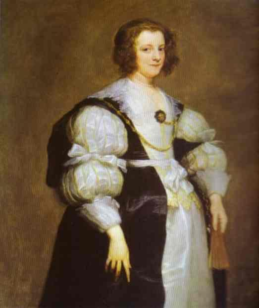 Portrait of Dona Polyxena Spinola Guzm de Lagan`s - Anthony van Dyck