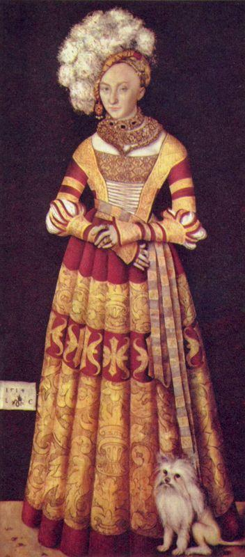 Portrait of duchess Katharina von Mecklenburg - Lucas Cranach the Elder