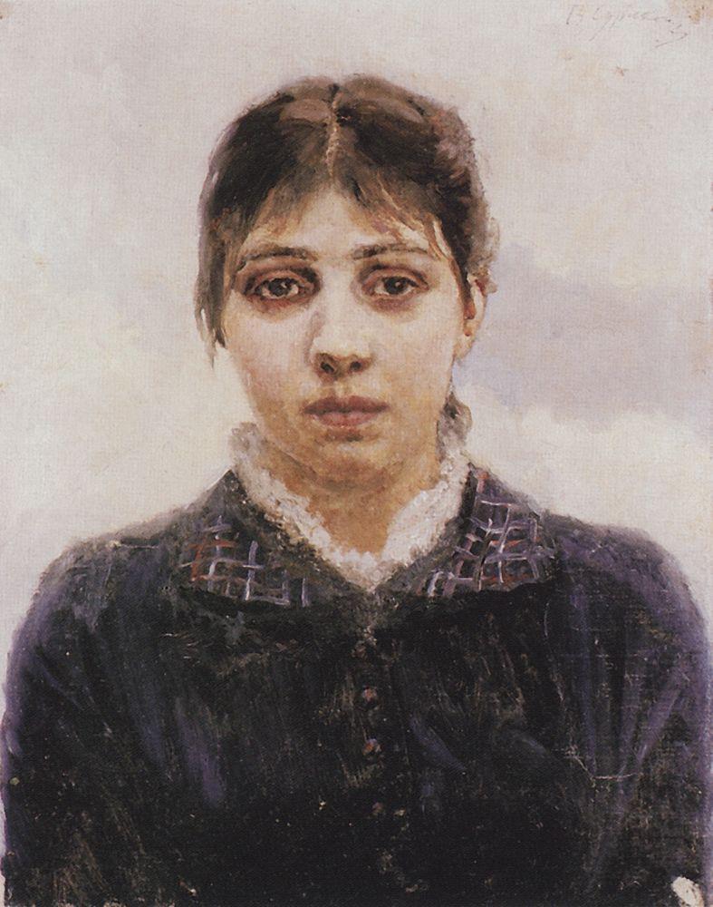 Portrait of E. A. Surikova - Vasily Surikov
