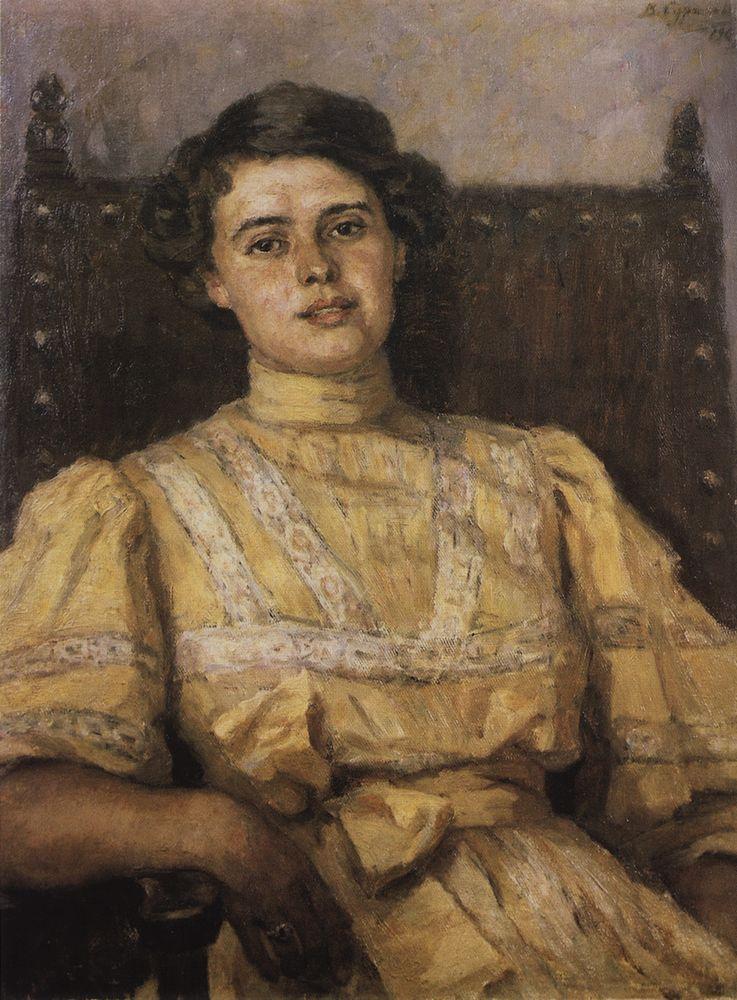 Portrait of E. N. Sabashnikova - Vasily Surikov