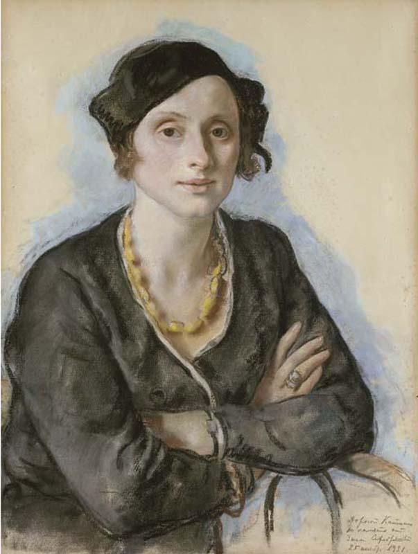 Portrait of Ekaterina Cavos Hunter, the artist's cousin - Zinaida Serebriakova