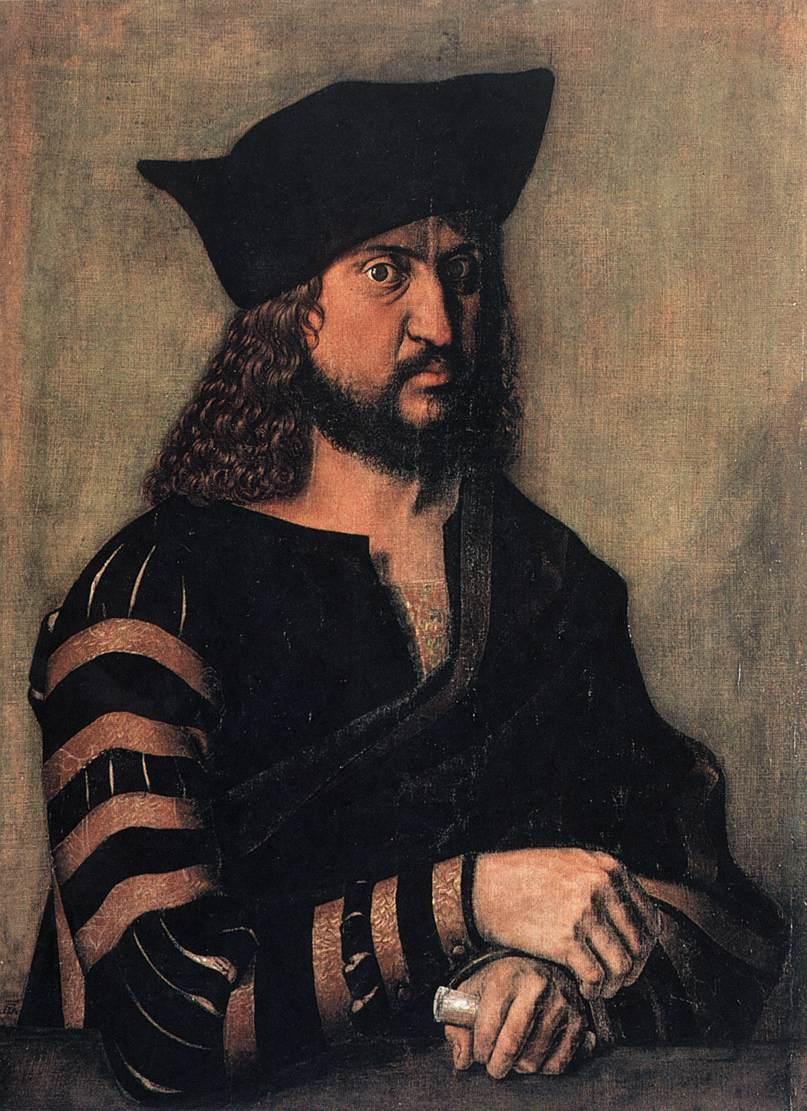 Portrait of Elector Frederick the Wise of Saxony - Albrecht Durer