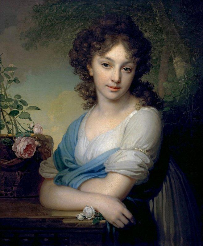 Portrait of Elena Alexandrovna Naryshkina - Vladimir Borovikovsky