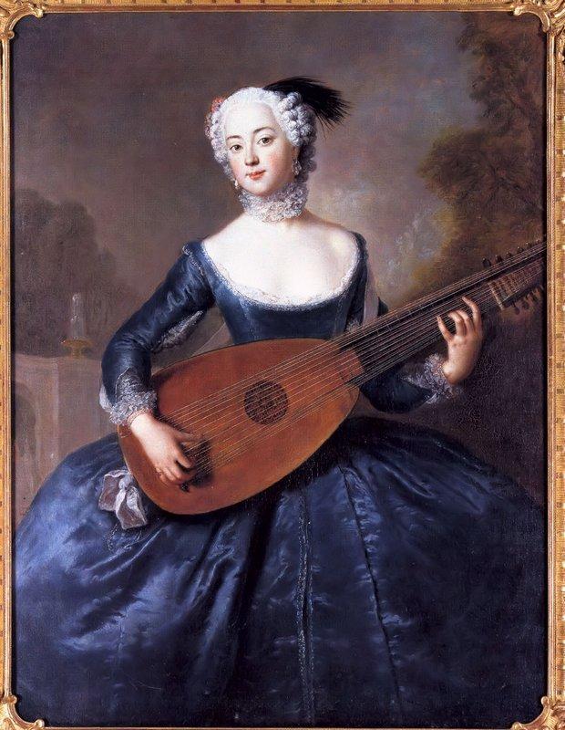 Portrait of Eleonore Louise Albertine, Comtesse von Schlieben-Sanditten, Freifrau von Keyserlingk, wife of Dietrich Cesarion - Antoine Pesne