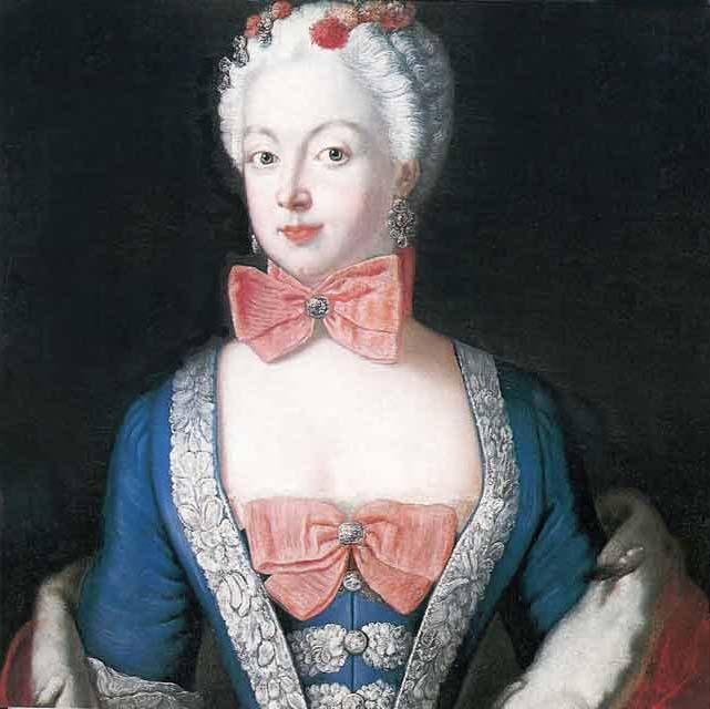 Portrait of Elisabeth Christine von Braunschweig Bevern, Prussian queen - Antoine Pesne