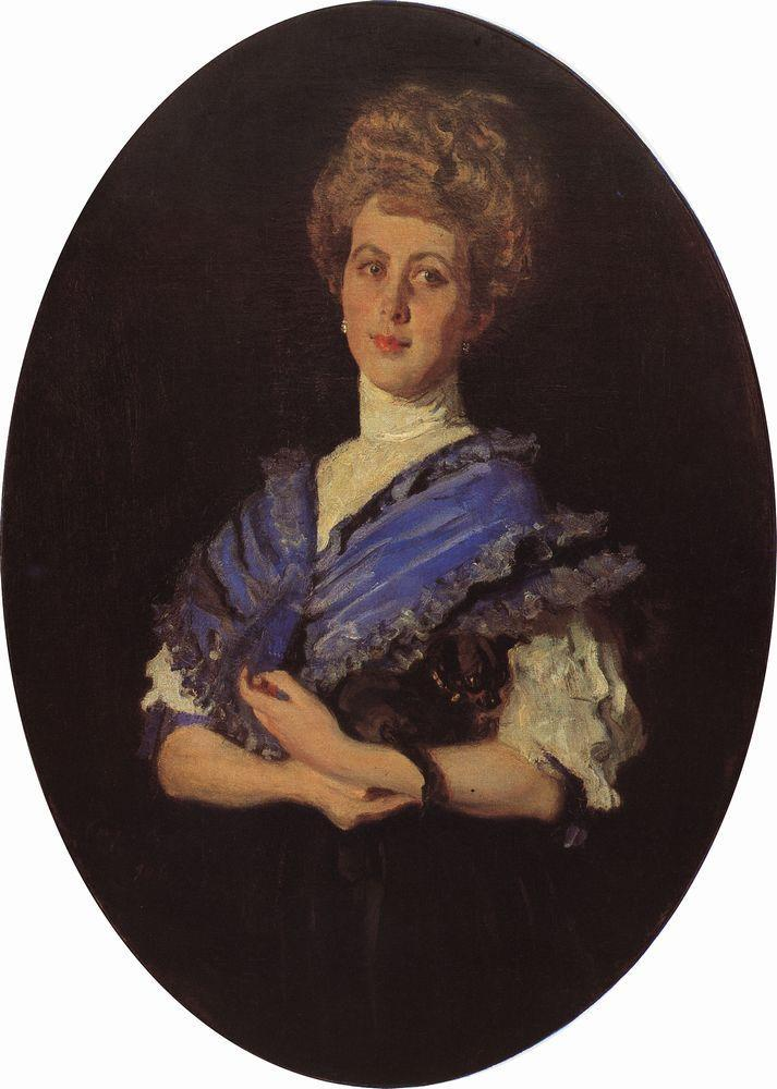 Portrait of Elisaveta Karzinkina - Valentin Serov