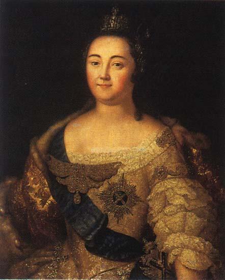 Portrait of Elizabeth of Russia - Aleksey Antropov