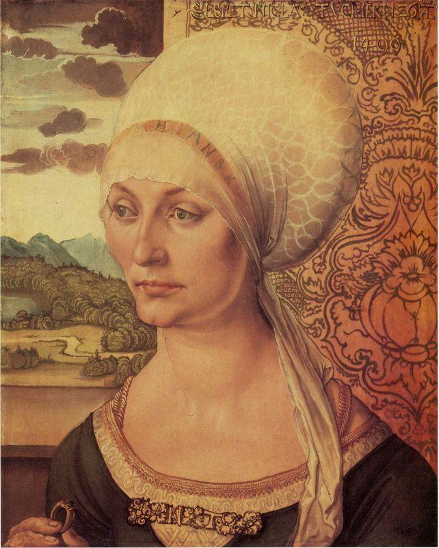 Portrait of Elsbeth Tucher - Albrecht Durer
