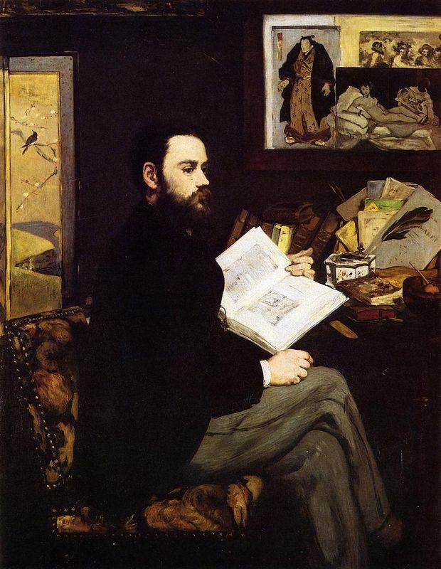 Portrait of Emile Zola  - Edouard Manet