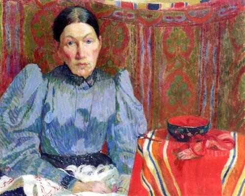 Portrait of Emilie Amiet-Baer - Cuno Amiet