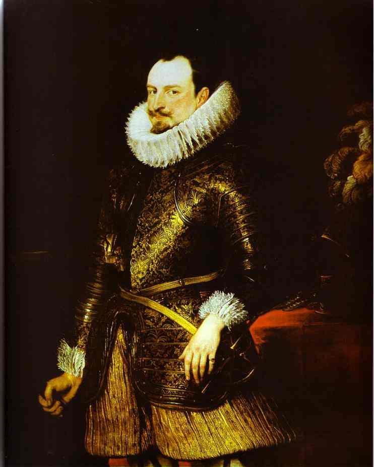 Portrait of Emmanuel Philibert - Anthony van Dyck