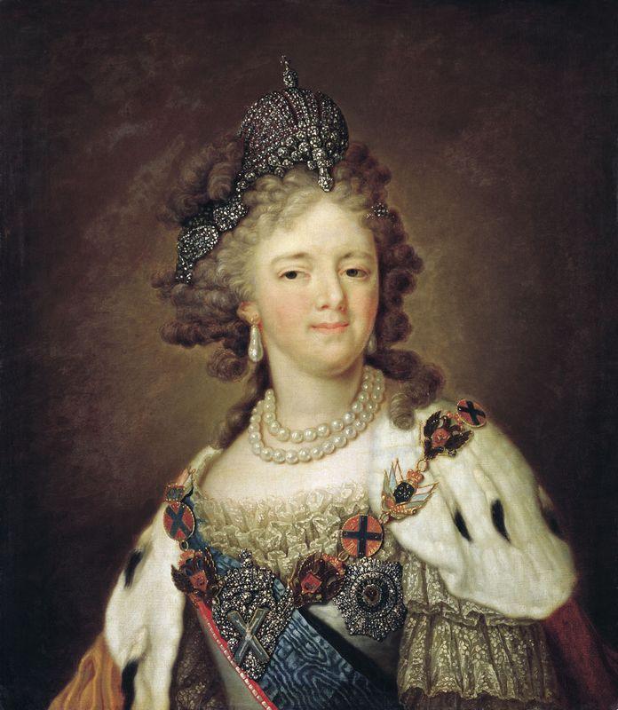 Portrait of Empress Maria Fyodorovna - Vladimir Borovikovsky